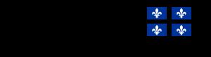 Drapeau du Québec avec fleurs de lys